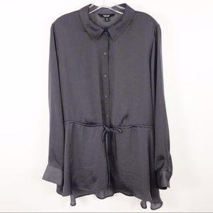 Simply Vera Vera Wang drawstring Gray tunic sz XXL